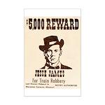 Wanted Jesse James Mini Poster Print