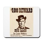 Wanted Jesse James Mousepad