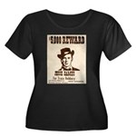 Wanted Jesse James Women's Plus Size Scoop Neck Da