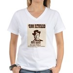 Wanted Jesse James Women's V-Neck T-Shirt