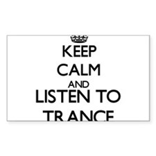 Keep calm and listen to TRANCE Decal