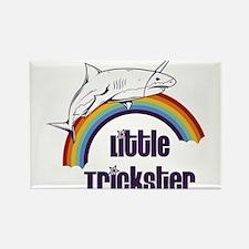 Little Trickster - Shark on a Rai Rectangle Magnet