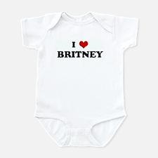 I Love BRITNEY Onesie