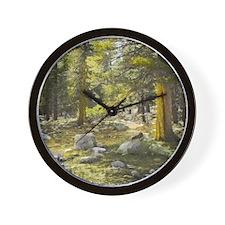 Sun Splashed Forest Wall Clock
