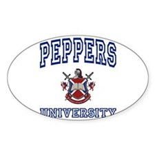 PEPPERS University Oval Decal
