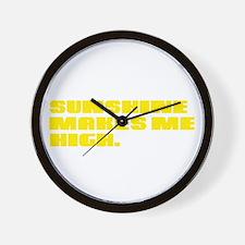 SUNSHINE HIGH Wall Clock