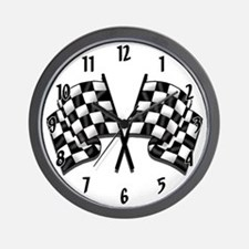 Chequered Flags Wall Clock