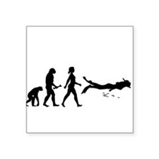 Scuba Diver Evolution Sticker