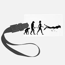 Scuba Diver Evolution Luggage Tag