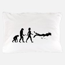 Scuba Diver Evolution Pillow Case