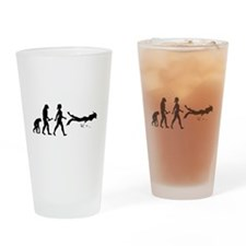 Scuba Diver Evolution Drinking Glass