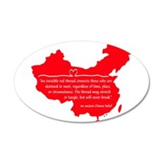 Red Thread Wall Decal