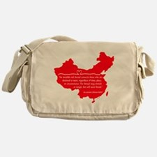 Red Thread Messenger Bag