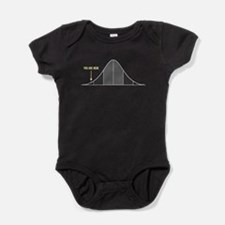 IQ Bell Curve You Are Here Baby Bodysuit