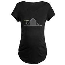IQ Bell Curve You Are Here Maternity T-Shirt