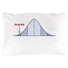 IQ Bell Curve You Are Here Pillow Case
