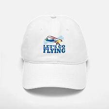Flying Baseball Baseball Cap