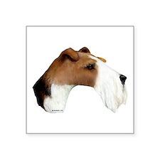 """Wire Fox Terrier Square Sticker 3"""" x 3"""""""