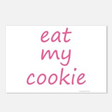eat my cookie pink Postcards (Package of 8)