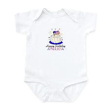 Happy Birthday America Baby/Toddler bodysuits