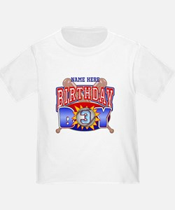Baseball 3rd Birthday T