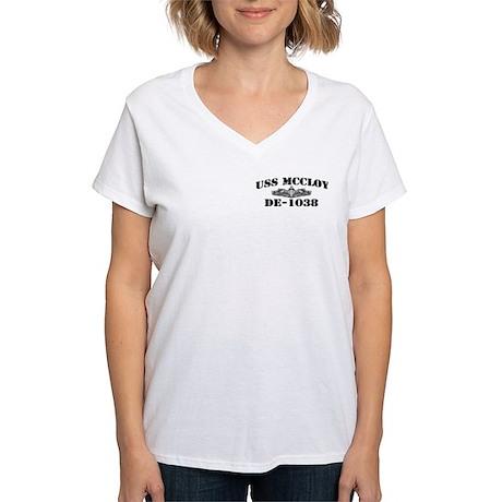 USS McCLOY Women's V-Neck T-Shirt