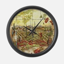 Tuscany Landscape Large Wall Clock