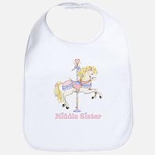 Carousel Pony Middle Sister Bib