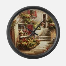 Tuscan Courtyard Large Wall Clock