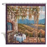 Tuscan Vineyard Shower Curtain