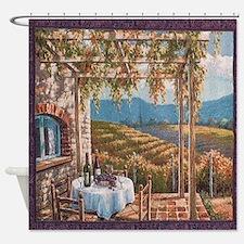 Tuscan Vineyard Shower Curtain