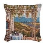 Tuscan Vineyard Woven Throw Pillow