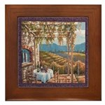 Tuscan Vineyard Framed Tile