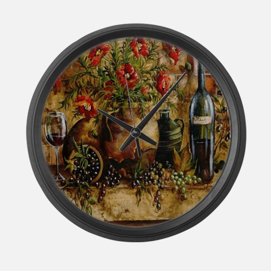 Vino di Italia Large Wall Clock