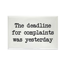 The deadlines for complaints was yesterday Magnets