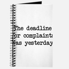 The deadlines for complaints was yesterday Journal
