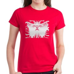 White butterfly Fractal Tee