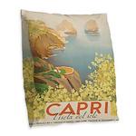 Isola Capri Burlap Throw Pillow