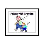 Fishing w/Grandad 2 Framed Panel Print