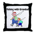 Fishing w/Grandad 2 Throw Pillow
