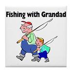 Fishing w/Grandad 2 Tile Coaster