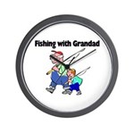 Fishing w/Grandad 2 Wall Clock