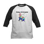 Fishing w/Grandad 2 Kids Baseball Jersey