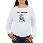 Fishing w/Grandad 2 Women's Long Sleeve T-Shirt