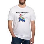 Fishing w/Grandad 2 Fitted T-Shirt