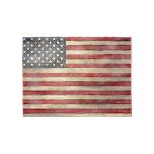 USA Vintage Flag 5'x7'Area Rug