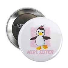 Happy Penguin Middle Sister Button