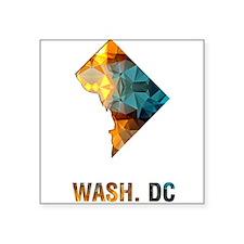 WASH. DC MAP Sticker