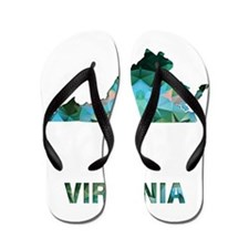 Funny Virginia Flip Flops