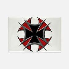 Double Maltese Biker Cross Rectangle Magnet